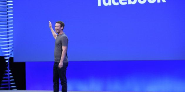 Mark Zuckerberg, founder and chief executive officer of Facebook Inc., speaks during the Facebook F8...