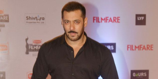 MUMBAI,INDIA January 15: Salman Khan at the 61st Filmfare awards in Mumbai.(Photo by Milind Shelte/India...
