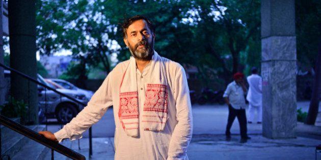 GURGAON, INDIA - MAY 19: Yogendra Yadav, former AAP leader, poses for a profile shoot, on May 19, 2015...