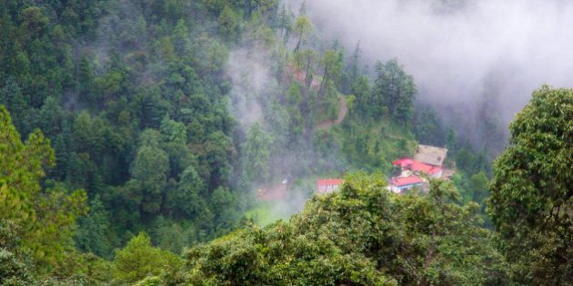A scenic place in the hills of shimla,