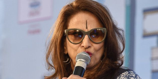 JAIPUR, INDIA - JANUARY 21: Shobhaa De during the session 'An Unsuitable Boy' at Jaipur Literary Festival...
