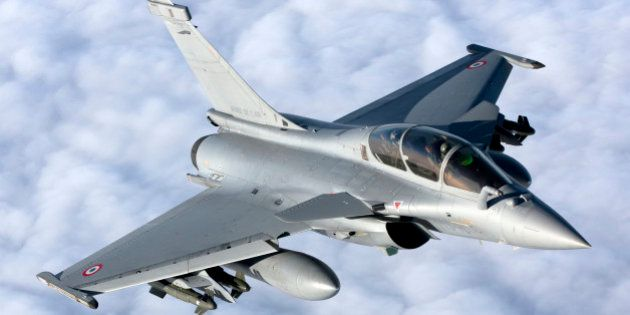 January 18, 2010 - Dassault Rafale B of the French Air Force off the Normandy coast. These Rafales carry AASM Hammer bombs.