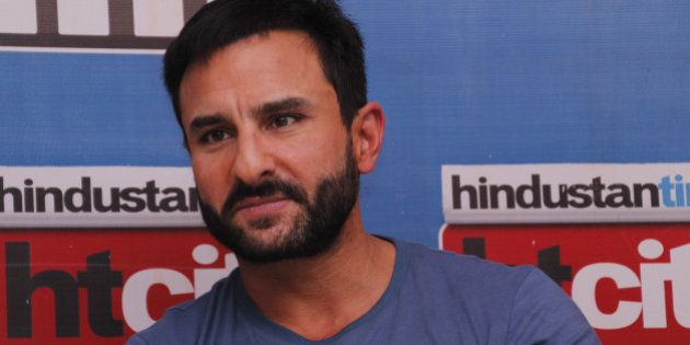 NEW DELHI, INDIA - AUGUST 24: Bollywood actor Saif Ali Khan during an exclusive interview with HT City...