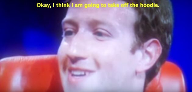 That Time When Mark Zuckerberg Gave The World A Peek At The Message Printed On The Inside Of His