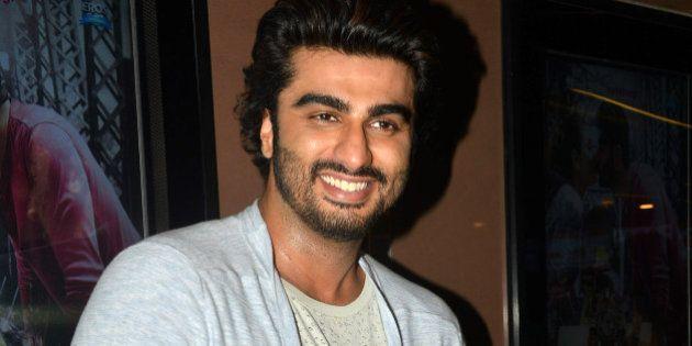 MUMBAI, INDIA APRIL 05 : Arjun Kapoor during the special screening of his upcoming movie Ki and Ka in...