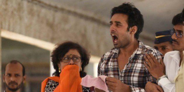 MUMBAI, INDIA - APRIL 2: Rahul Raj Singh, boyfriend of Indian TV actor Pratyusha Banerjee, at hospital...
