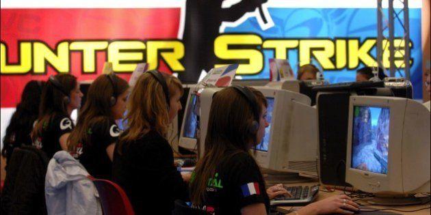 FRANCE - JULY 05: The Video Games World Cup in Paris, France on July 05, 2007 - Jenifer, Deborah, Celine,...
