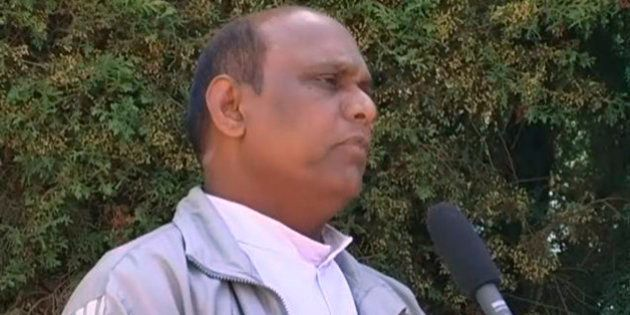 This image taken from television shows the Rev. Joseph Palanivel Jeyapaul speaking to a journalist in...