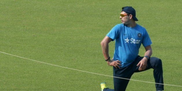 India's Yuvraj Singh looks on during a training session at The Eden Gardens Cricket Stadium in Kolkata...