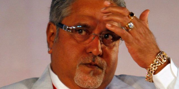 United Breweries Group Chairman Vijay Mallya looks on during the Global Investors Meet organized by the...