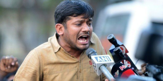 Student leader of India's Jawaharlal Nehru University (JNU)Kanhaiya Kumar speaks to the media at Hyderabad...