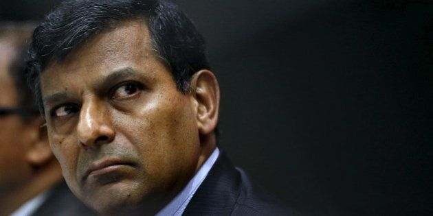Reserve Bank of India (RBI) Governor Raghuram Rajan attends a news conference after their bimonthly monetary...