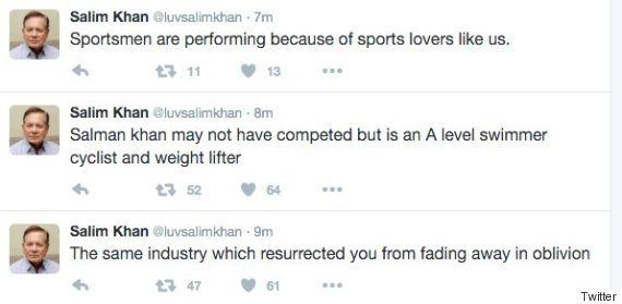 Father Salim Khan Defends Salman Khan's Selection As Goodwill Ambassador For Rio