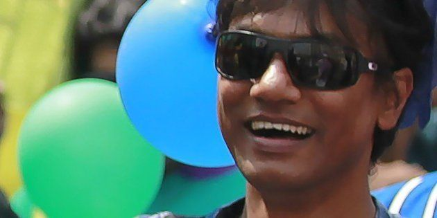 This photograph taken on April 14, 2014, shows Bangladesh activist Xulhaz Mannan as he attends a Bengali...