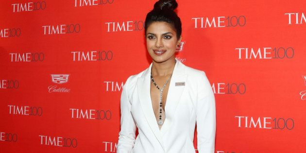 NEW YORK, NY - APRIL 26: Actress Priyanka Chopra attends the 2016 Time 100 Gala at Frederick P. Rose...