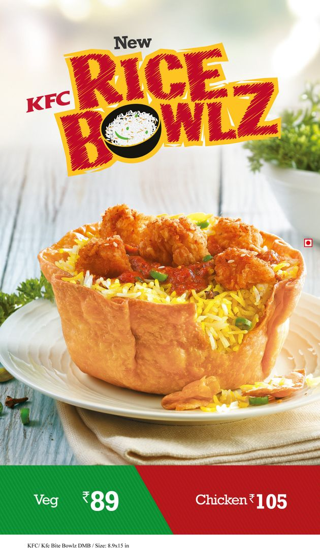 KFC To Debut Edible, Tortilla Rice Bowls In India To Curb Plastic