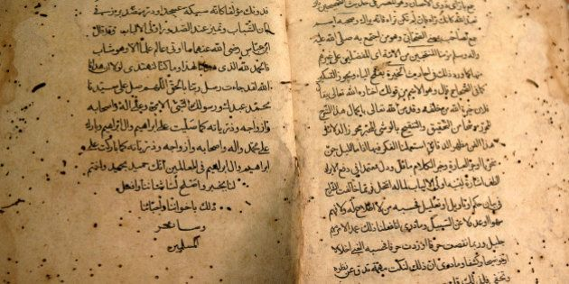 NEW DELHI, INDIA � JUNE 28: A rare urdu book can be seen in a worn out state at the Hazrat Shah Waliullah...