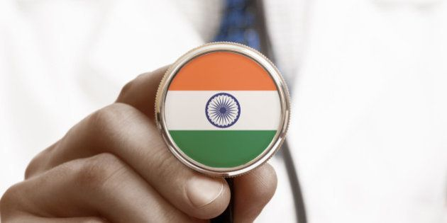 Stethoscope with national flag conceptual series -