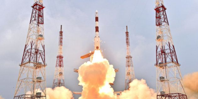 SRIHARIKOTA, Jan. 21, 2016-- PSLV-C31 rocket of Indian Space Research Organisation carrying IRNSS-1E...