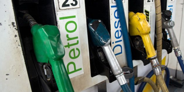 A petrol fuel pump is pictured at a station in New Delhi on January 16, 2013. Petrol price was hiked...