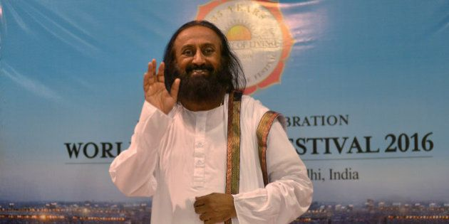 NEW DELHI, INDIA MARCH 13: Sri Sri Ravishankar during the World Culture Festival on the banks of Yamuna...
