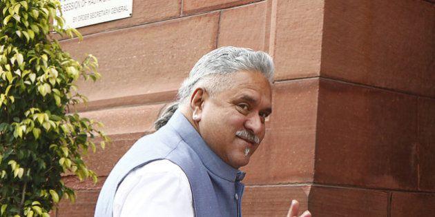 NEW DELHI, INDIA - MARCH 3: Businessman and Rajya Sabha MP Vijay Mallya during budget session at Parliament...