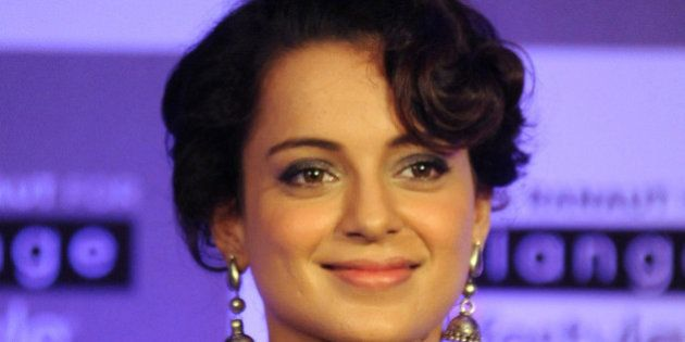 Indian Bollywood actress Kangana Ranaut looks on during a promotional event in Mumbai on March 22, 2016....