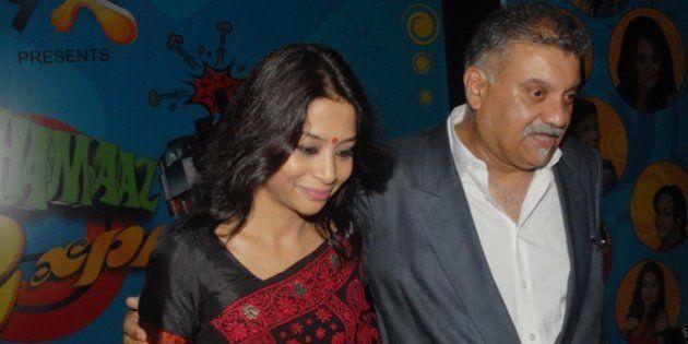 MUMBAI, INDIA - AUGUST 27: (FILE PHOTO) Indrani Mukherjea, founder of 9X Media with her husband former...