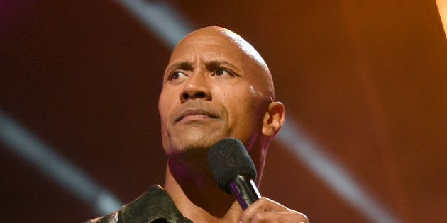 BURBANK, CALIFORNIA - APRIL 09: Host Dwayne Johnson speaks onstage during the 2016 MTV Movie Awards at...