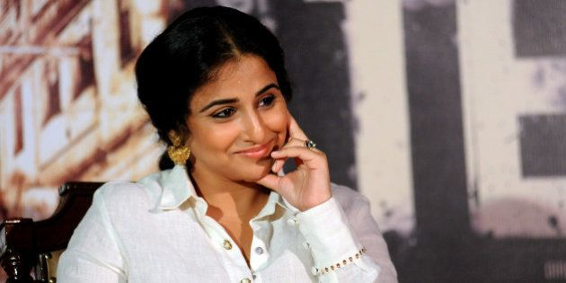 Indian Bollywood actress Vidya Balan attends the trailer launch of the forthcoming Hindi film TE3N directed...