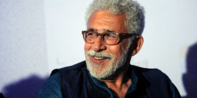 Indian Bollywood actor Naseeruddin Shah attends the book launch of 'The Village of Pointless Conversation',...