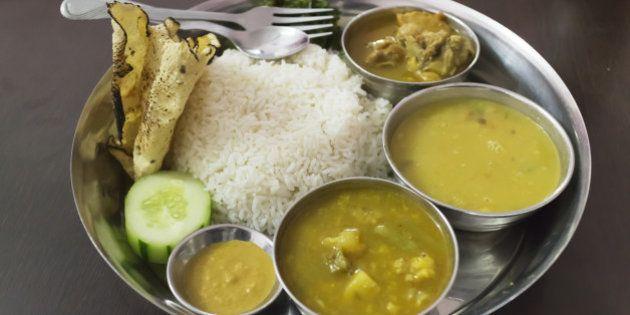 Nepal, Meal served in Nepal. (Photo by: JTB/UIG via Getty Images) (Photo by: JTB Photo/UIG via Getty