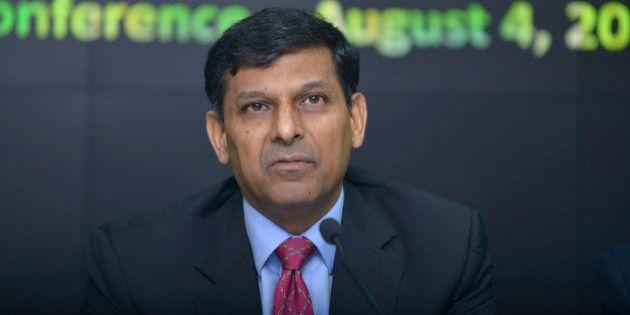 MUMBAI, INDIA - AUGUST 4: RBI Governor Raghuram Rajan during the third Bi-monthly Monetary Policy Statement...