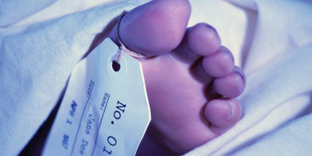 Foot with toe tag