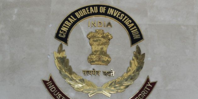 The Indian Central Bureau of Investigation (CBI) logo is pictured at the CBI headquarters in New Delhi...