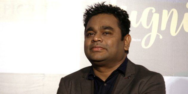 Indian Bollywood music director-composer and singer A.R. Rahman attends the music launch of upcoming...