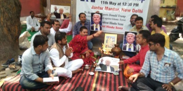 Hindu Outfit Prays For Donald Trump At Jantar Mantar, Hopes He Will Go To War With