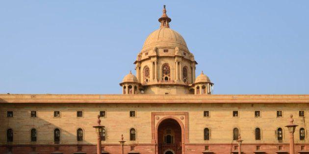 Indian Parliament Building, New Delhi, National Capital Territory,