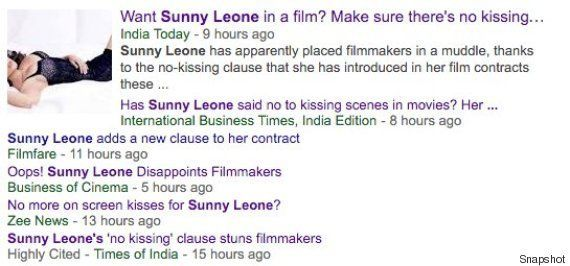 No, Sunny Leone Hasn't Added A 'No-Kissing' Clause To Her