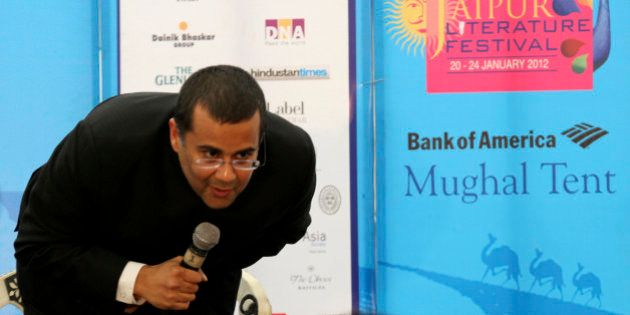 Indian writer Chetan Bhagat speaks at the annual Literature Festival in Jaipur, capital of India's desert...