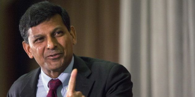 Reserve Bank of India Governor Raghuram Rajan speaks to The Economic Club of New York, in midtown Manhattan...
