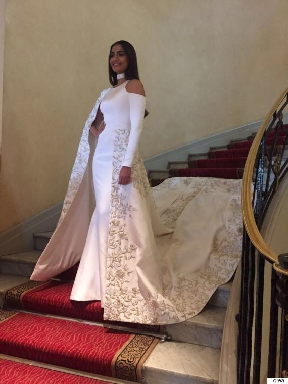 Cannes 2016: Sonam Kapoor Stuns In A Saree-Inspired Gown On The Red