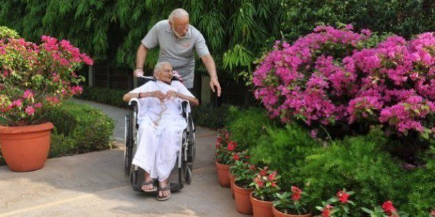 Narendra Modi Posts Photos Of His Mother's First Visit To His