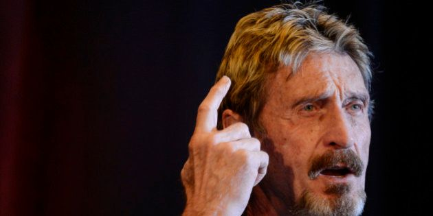 DENVER, CO - MAY 11: John McAfee founder of McAfee anti virus/security software was the keynote speaker...