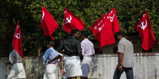 ALLEPPEY, KERALA, INDIA - 2014/12/05: Politics in Kerala has been dominated by two political fronts:...