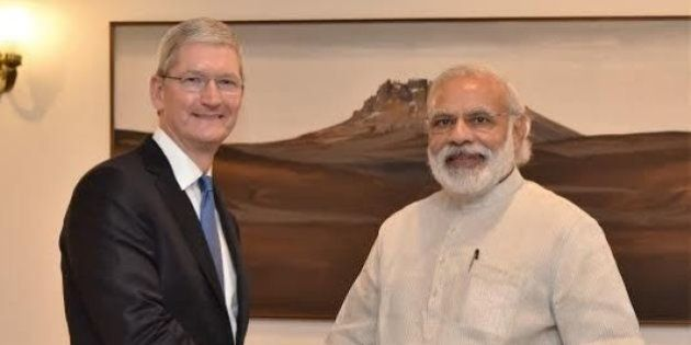 Did Tim Cook Show Interest In Narendra Modi's 'Make In India'