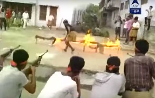 Bajrang Dal Men Seen 'Shooting Down' Volunteers In Skull Caps In Viral Arms Training