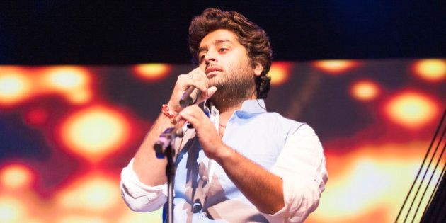 LONDON, UNITED KINGDOM - AUGUST 29: Arijit Singh performs on stage at Indigo2 at O2 Arena on August 29,...