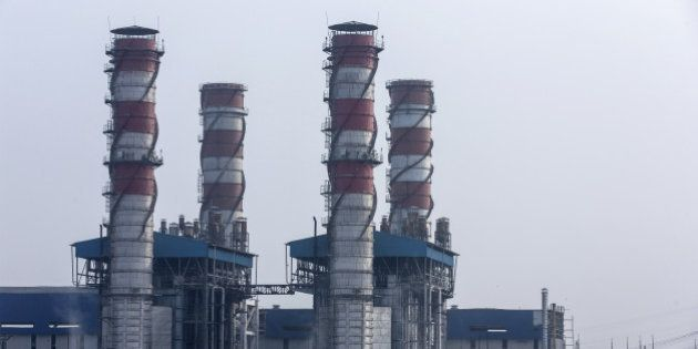 The 1500 Megawatt Combined Cycle Power Station Bawana operated by Pragati Power Corp. (PPCL) stands in...