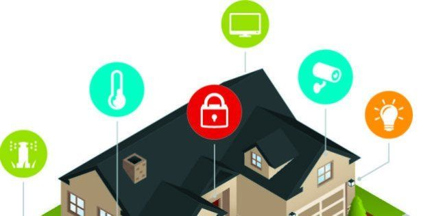 An isometric smart home with home automation capabilities. Home automation, smarthome, sprinklers, irrigation,...